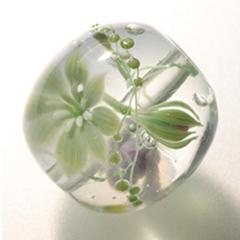 緑系のつぼみ と花の玉